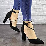 Туфли женские на каблуке черные Noisette 1481 (40 размер), фото 2