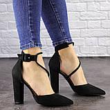 Туфли женские на каблуке черные Noisette 1481 (40 размер), фото 3