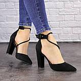 Туфли женские на каблуке черные Noisette 1481 (40 размер), фото 4