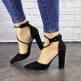Туфли женские на каблуке черные Noisette 1481 (40 размер), фото 5