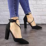 Туфли женские на каблуке черные Noisette 1481 (40 размер), фото 6