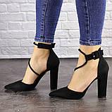Туфли женские на каблуке черные Noisette 1481 (40 размер), фото 7