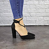 Туфли женские на каблуке черные Noisette 1481 (40 размер), фото 8