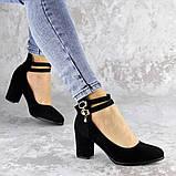 Туфли женские на каблуке черные Pebbles 2146 (36 размер), фото 2