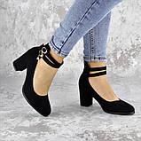 Туфли женские на каблуке черные Pebbles 2146 (36 размер), фото 3