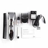 Машинка для стрижки волос беспроводная Kemei LFQ-KM-605 Rhc 3 Вт аккумуляторная с влагозащитой и кольцевым, фото 4