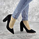 Туфли женские на каблуке черные Snuffles 2399 (36 размер), фото 2