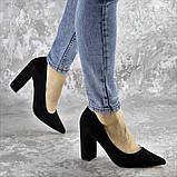 Туфли женские на каблуке черные Snuffles 2399 (36 размер), фото 3