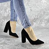 Туфли женские на каблуке черные Snuffles 2399 (36 размер), фото 4