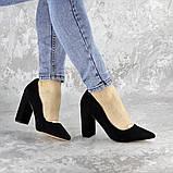 Туфли женские на каблуке черные Snuffles 2399 (36 размер), фото 5