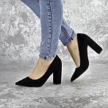 Туфли женские на каблуке черные Snuffles 2399 (36 размер), фото 6