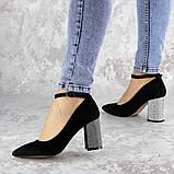 Туфли женские на каблуке черные Teo 2167 (37 размер), фото 2