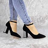 Туфли женские на каблуке черные Teo 2167 (37 размер), фото 3