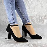 Туфли женские на каблуке черные Teo 2167 (37 размер), фото 4