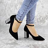 Туфли женские на каблуке черные Teo 2167 (37 размер), фото 5