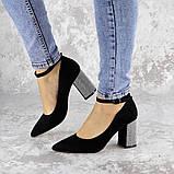 Туфли женские на каблуке черные Teo 2167 (37 размер), фото 6