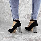 Туфли женские на каблуке черные Teo 2167 (37 размер), фото 7