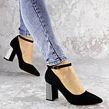 Туфли женские на каблуке черные Teo 2167 (37 размер), фото 8