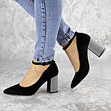 Туфли женские на каблуке черные Teo 2167 (37 размер), фото 9