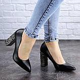 Туфли женские на каблуке черные Tita 2054 (36 размер), фото 3