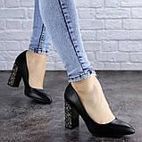 Туфли женские на каблуке черные Tita 2054 (36 размер), фото 4
