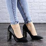 Туфли женские на каблуке черные Tita 2054 (36 размер), фото 5