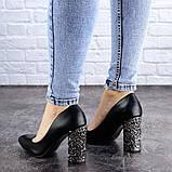 Туфли женские на каблуке черные Tita 2054 (36 размер), фото 6