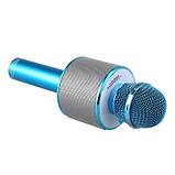 Микрофон-караоке безпроводной Wster WS-858 Голубой, фото 3