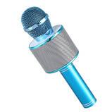 Микрофон-караоке безпроводной Wster WS-858 Голубой, фото 4