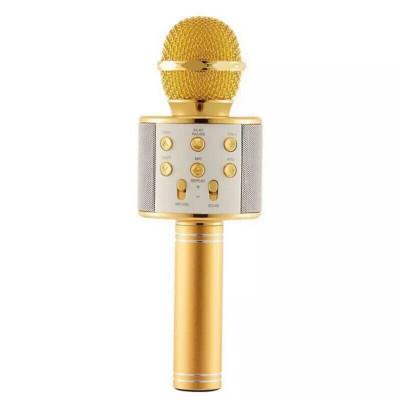 Микрофон-караоке безпроводной Wster WS-858 Золото (GS03247)