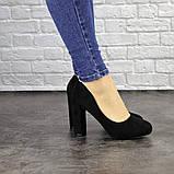 Туфли женские черные Nala на высоком каблуке 1492 (36 размер), фото 2