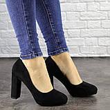 Туфли женские черные Nala на высоком каблуке 1492 (36 размер), фото 3