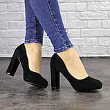 Туфли женские черные Nala на высоком каблуке 1492 (36 размер), фото 4