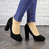 Туфли женские черные Nala на высоком каблуке 1492 (36 размер), фото 5
