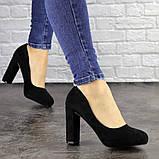 Туфли женские черные Nala на высоком каблуке 1492 (36 размер), фото 6
