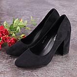Туфли женские черные Nala на высоком каблуке 1492 (36 размер), фото 7