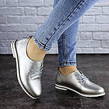Женские туфли кожанные серебристые Cisco 1927 (36 размер), фото 2