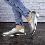 Женские туфли кожанные серебристые Cisco 1927 (36 размер), фото 3