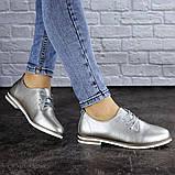 Женские туфли кожанные серебристые Cisco 1927 (36 размер), фото 5