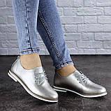 Женские туфли кожанные серебристые Cisco 1927 (36 размер), фото 6