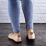 Женские туфли кожаные бежевые Fletcher 1954 (36 размер), фото 7