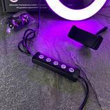 Набор LifeHack для TikTok MJ26 Rgb 26 см c штативом 2 м и Bluetooth кнопкой для телефона, фото 2