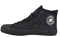 Кеды Converse All Stars Black Monochrome High M3310 (черные) 44