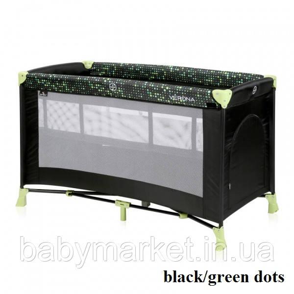 Манеж Lorelli VERONA 2L (black/green dots)