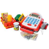 Магазин 6615 каса, кошик, продукти, калькулятор, сканер, муз., світло, бат., кор., 39-39-10 см., фото 1