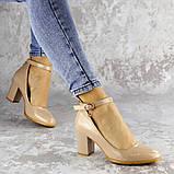 Женские туфли на каблуке бежевые Curly 2199 (36 размер), фото 4