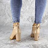 Женские туфли на каблуке бежевые Curly 2199 (36 размер), фото 7