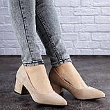 Женские туфли на каблуке бежевые Pebbles 2015 (38 размер), фото 2