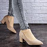 Женские туфли на каблуке бежевые Pebbles 2015 (38 размер), фото 3