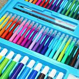 Набор для рисования и творчества в чемоданчике с мольбертом Super Mega Art Set Голубой 208 предметов(GS07009), фото 5